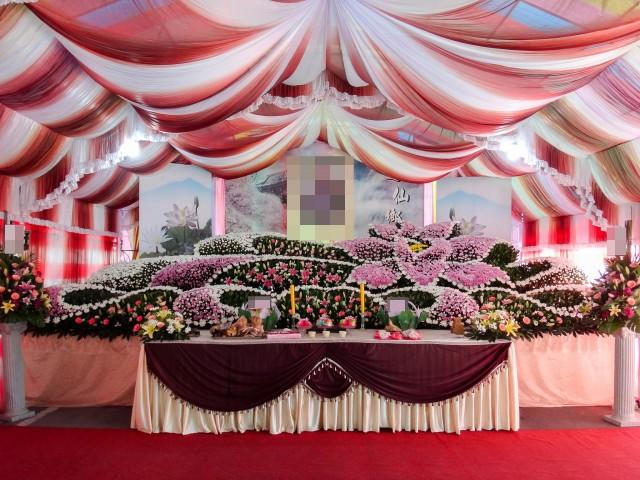 甲級廳 告別式鮮花佈置
